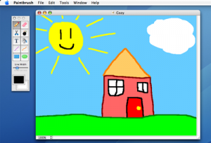 Paintbrush Mac OS X Paint