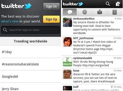 Android Twitter New Version