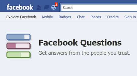 Facebook Launches Facebook Questions
