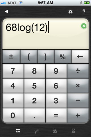 PowerOne Scientific Calculator iPad Application